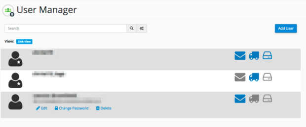 New User Manager in cPanel